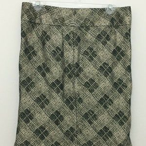 The Limited Skirts - The Limited Metallic Plaid Short Pencil Skirt Sz 6